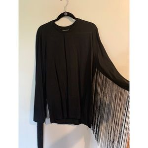 Asos long sleeve with fringe